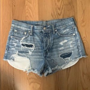 AE Ripped Jean Shorts